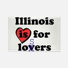 Illinois Is For Losers Rectangle Magnet