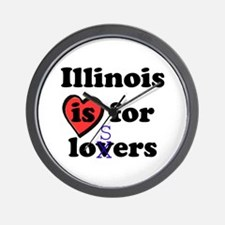 Illinois Is For Losers Wall Clock