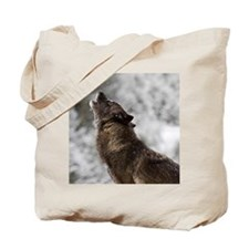 Cute Timber wolf Tote Bag