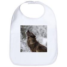 Funny Howling wolf Bib