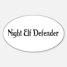Night Elf Defender Oval Decal