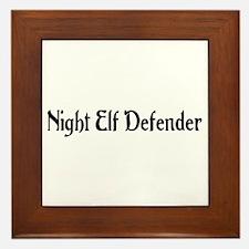 Night Elf Defender Framed Tile