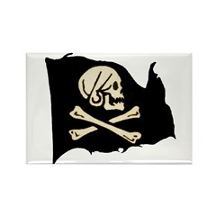 Henry Avery Pirate Flag Rectangle Magnet (100 pac