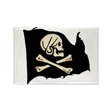 Henry Avery Pirate Flag Rectangle Magnet