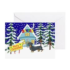 Santas Place Dachshund Greeting Cards (Pk of 10)