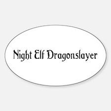 Night Elf Dragonslayer Oval Decal