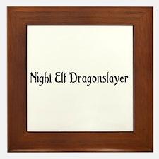 Night Elf Dragonslayer Framed Tile