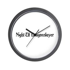 Night Elf Dragonslayer Wall Clock