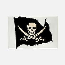 Calico Jack Pirate Flag Rectangle Magnet