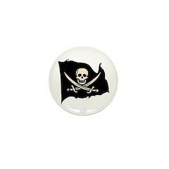 Calico Jack Pirate Flag Mini Button (10 pack)