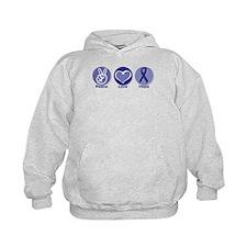 Peace Love Purple Hope Hoodie