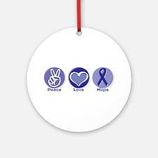 Peace Love Purple Hope Ornament (Round)