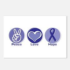 Peace Love Purple Hope Postcards (Package of 8)