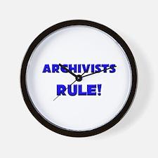 Archivists Rule! Wall Clock