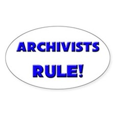 Archivists Rule! Oval Decal