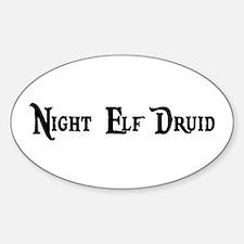 Night Elf Druid Oval Decal