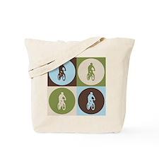 Mountain Biking Pop Art Tote Bag