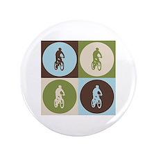 """Mountain Biking Pop Art 3.5"""" Button (100 pack)"""