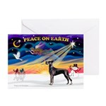 XmasSunrise/Great Dane (bl) Greeting Cards(Pk/10)