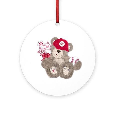 Baseball Teddy Bear Keepsake Ornament