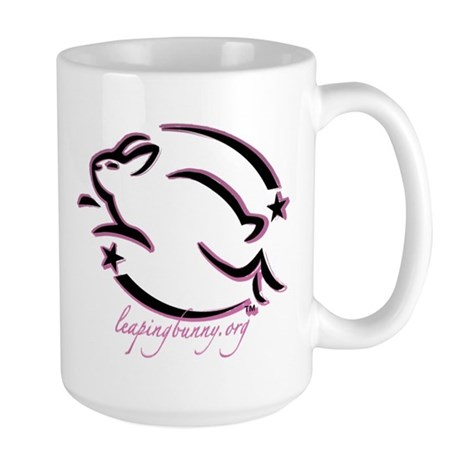 Leaping Bunny Outline (Large Mug)