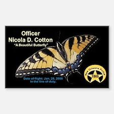 NICOLA D. COTTON MEMORIAL STICKER