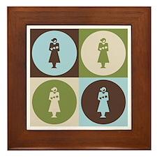 Midwifery Pop Art Framed Tile
