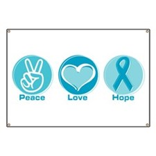 Peace Love Teal Hope Banner