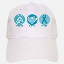 Peace Love Teal Hope Baseball Baseball Cap