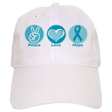 Peace Love Teal Hope Baseball Cap