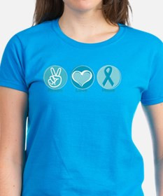 Peace Love Teal Hope Tee