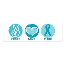 Peace Love Teal Hope Bumper Bumper Sticker