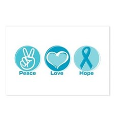 Peace Love Teal Hope Postcards (Package of 8)
