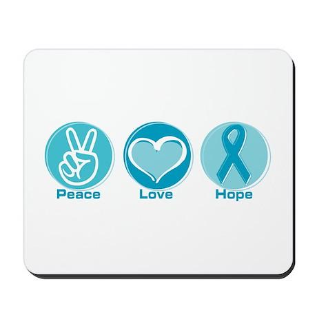 Peace Love Teal Hope Mousepad