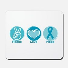 Peace Love Teal Hope Mousepad