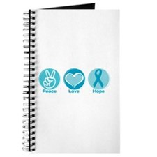 Peace Love Teal Hope Journal
