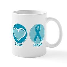 Peace Love Teal Hope Mug