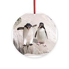 Cute Falklands penguin Ornament (Round)