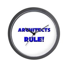 Architects Rule! Wall Clock