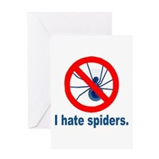I hate spiders Greeting Card