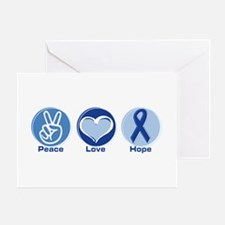 Peace Love Blue Hope Greeting Card