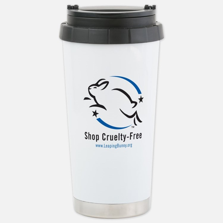 Leaping Bunny (Stainless Steel Travel Mug)