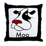 Moo Cow Throw Pillow