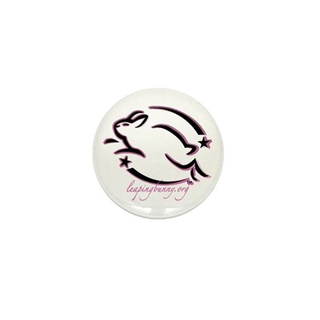 Leaping Bunny Outline (Mini Button -- 10 pack)