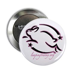 "Leaping Bunny Outline (2.25"" Button)"
