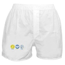 Peace Love Down syn hope Boxer Shorts