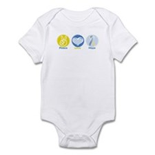 Peace Love Down syn hope Infant Bodysuit