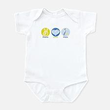 Peace Love Down syn hope Infant Bodysuit