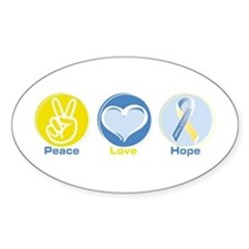 Peace Love Down syn hope Decal