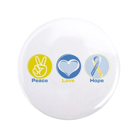 "Peace Love Down syn hope 3.5"" Button"